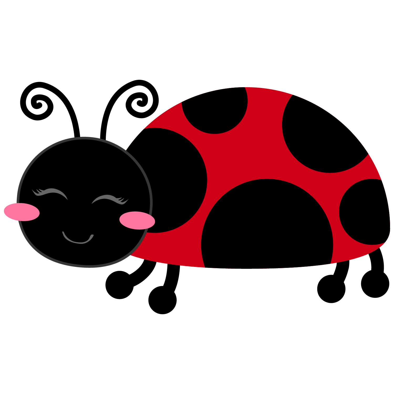 Girl and clip art. Ladybugs clipart love