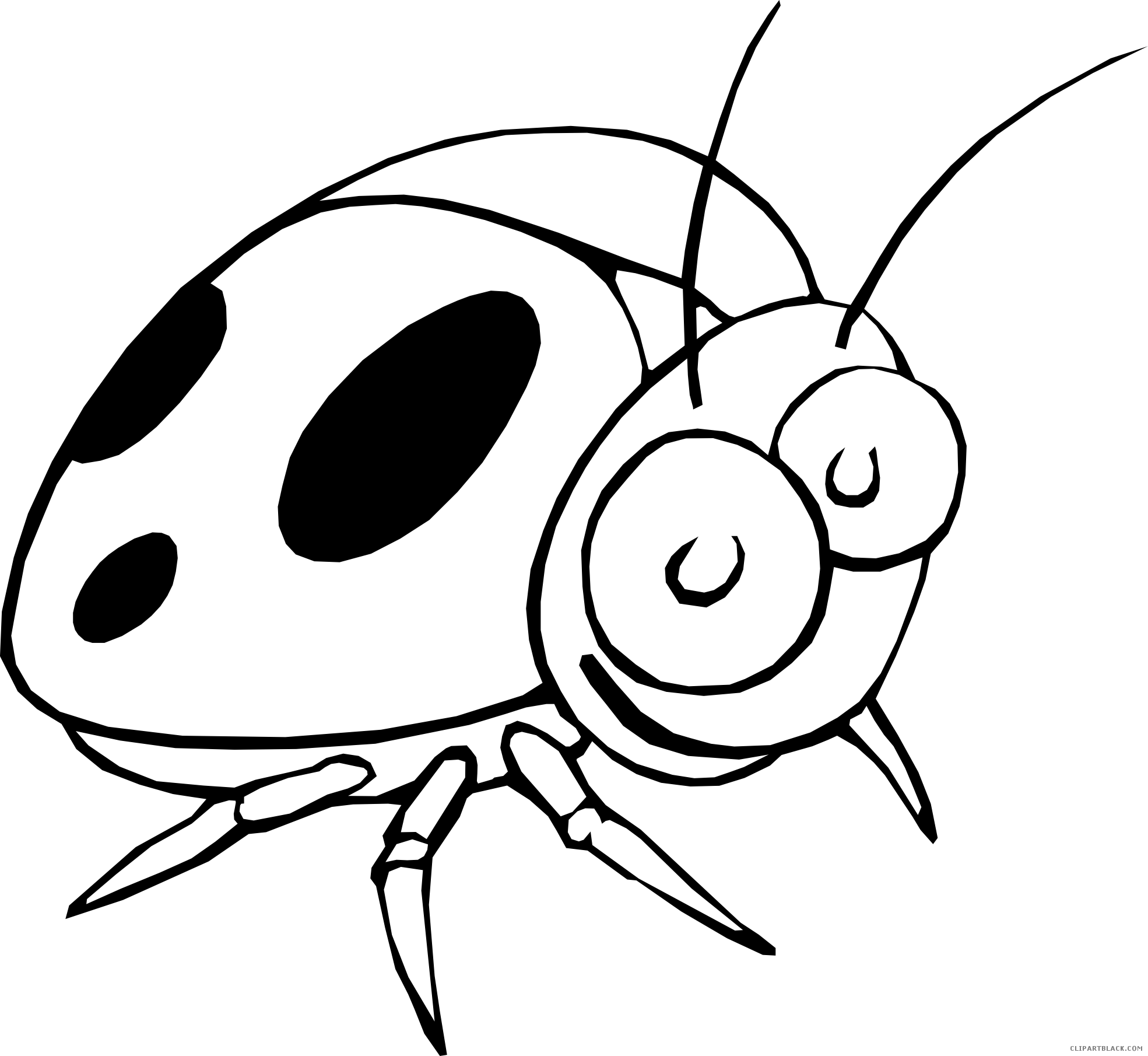 Ladybugs clipart outline. Ladybug clipartblack com animal