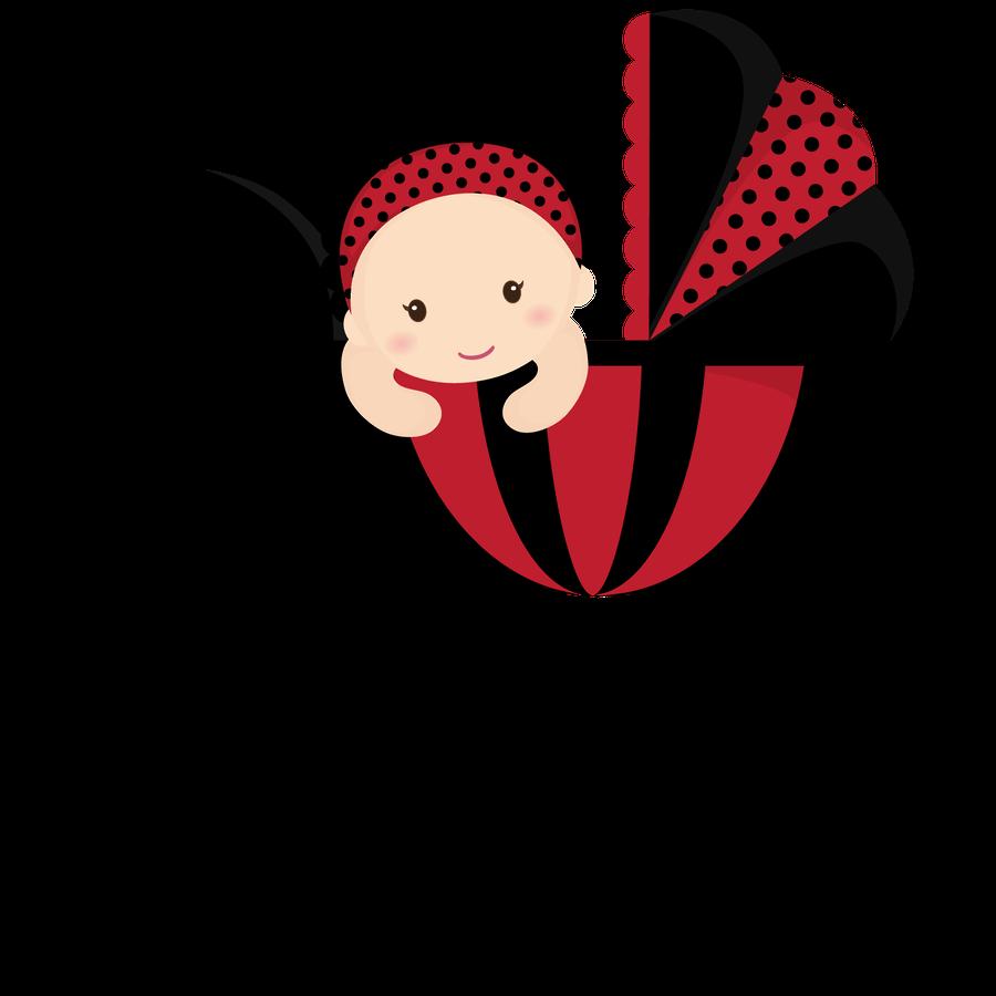 Beb menino e menina. Ladybugs clipart pastel