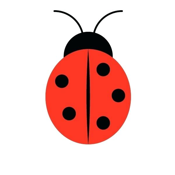 How to draw a. Ladybugs clipart simple shape