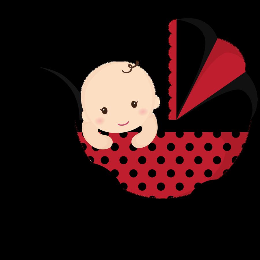 Ladybugs clipart stroller. Beb menino e menina
