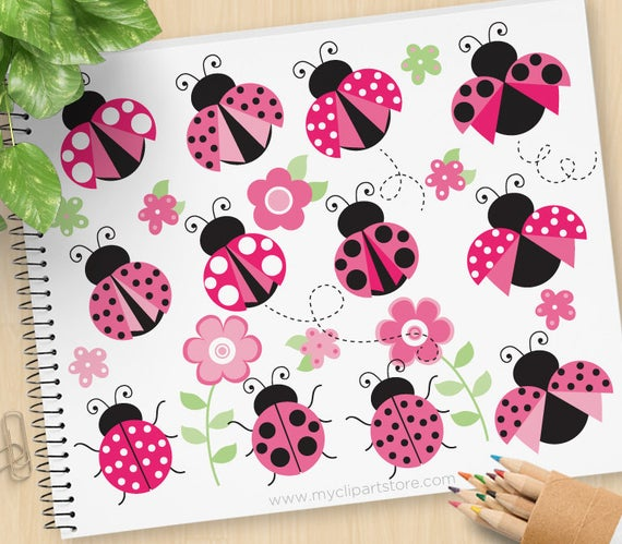 Ladybugs clipart svg. Pretty pink cute lady