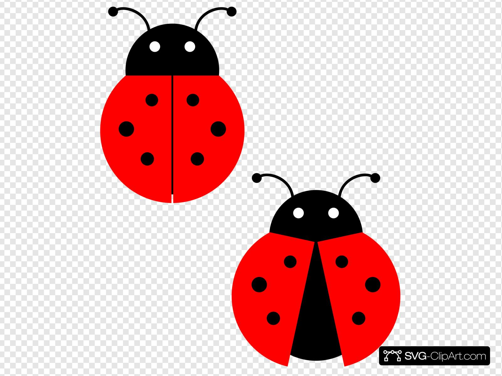 Ladybugs clipart svg. Clip art icon and