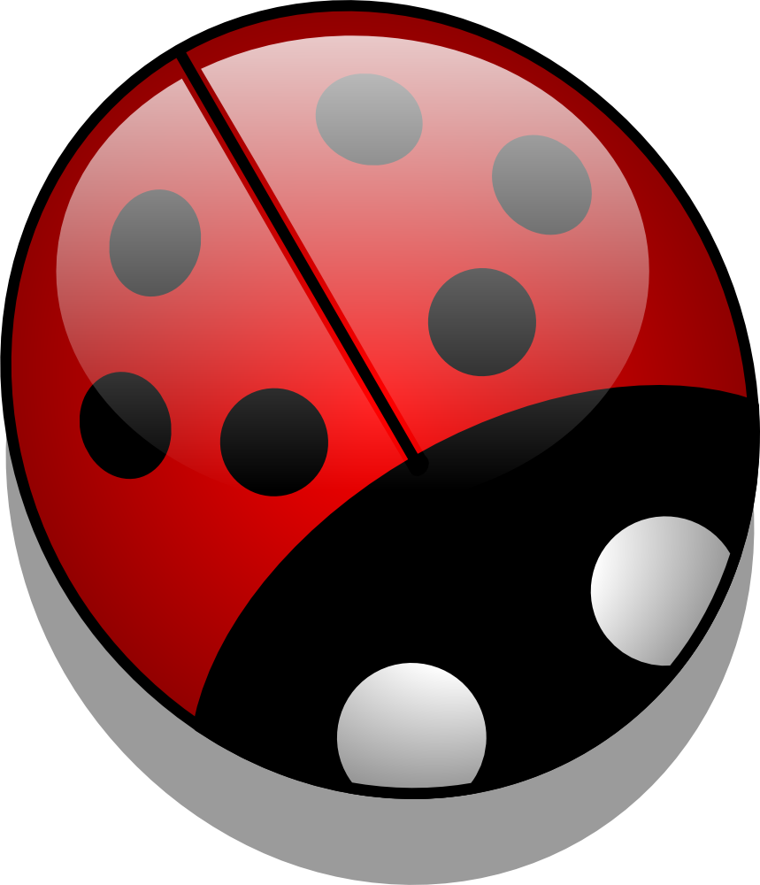 Free insect vector graphics. Ladybugs clipart symmetrical