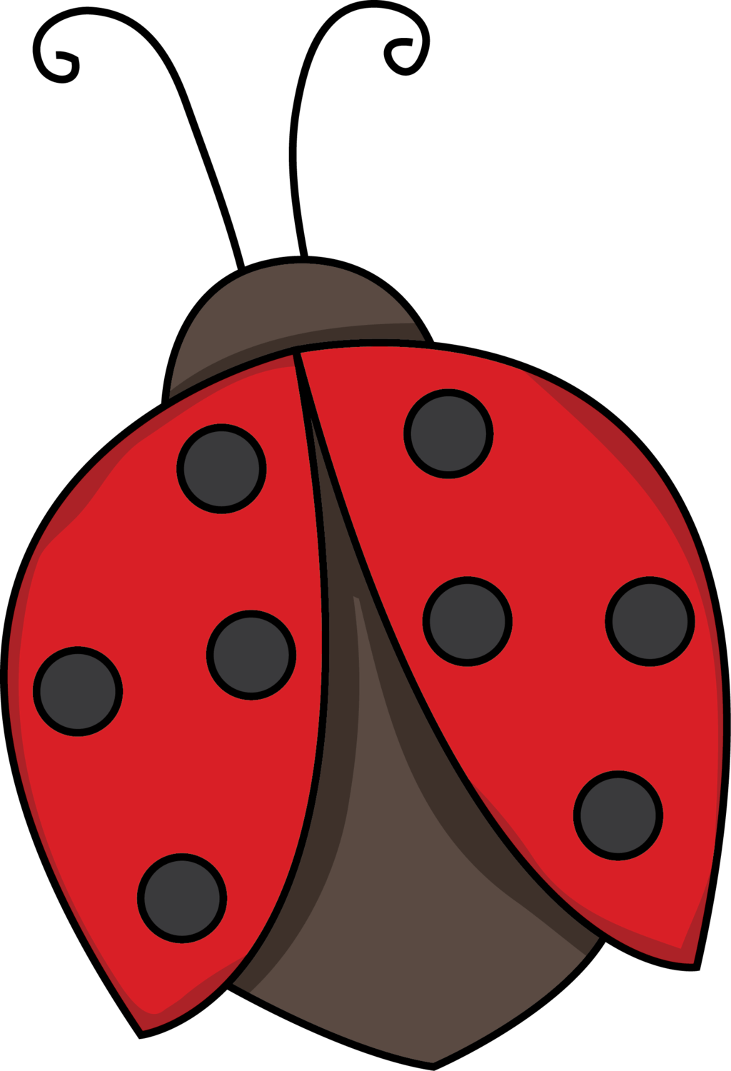 Ladybugs clipart symmetrical. Free three little pigs