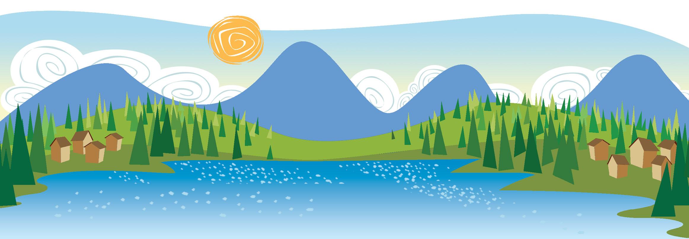 Landscape clipart. Clip art panda free