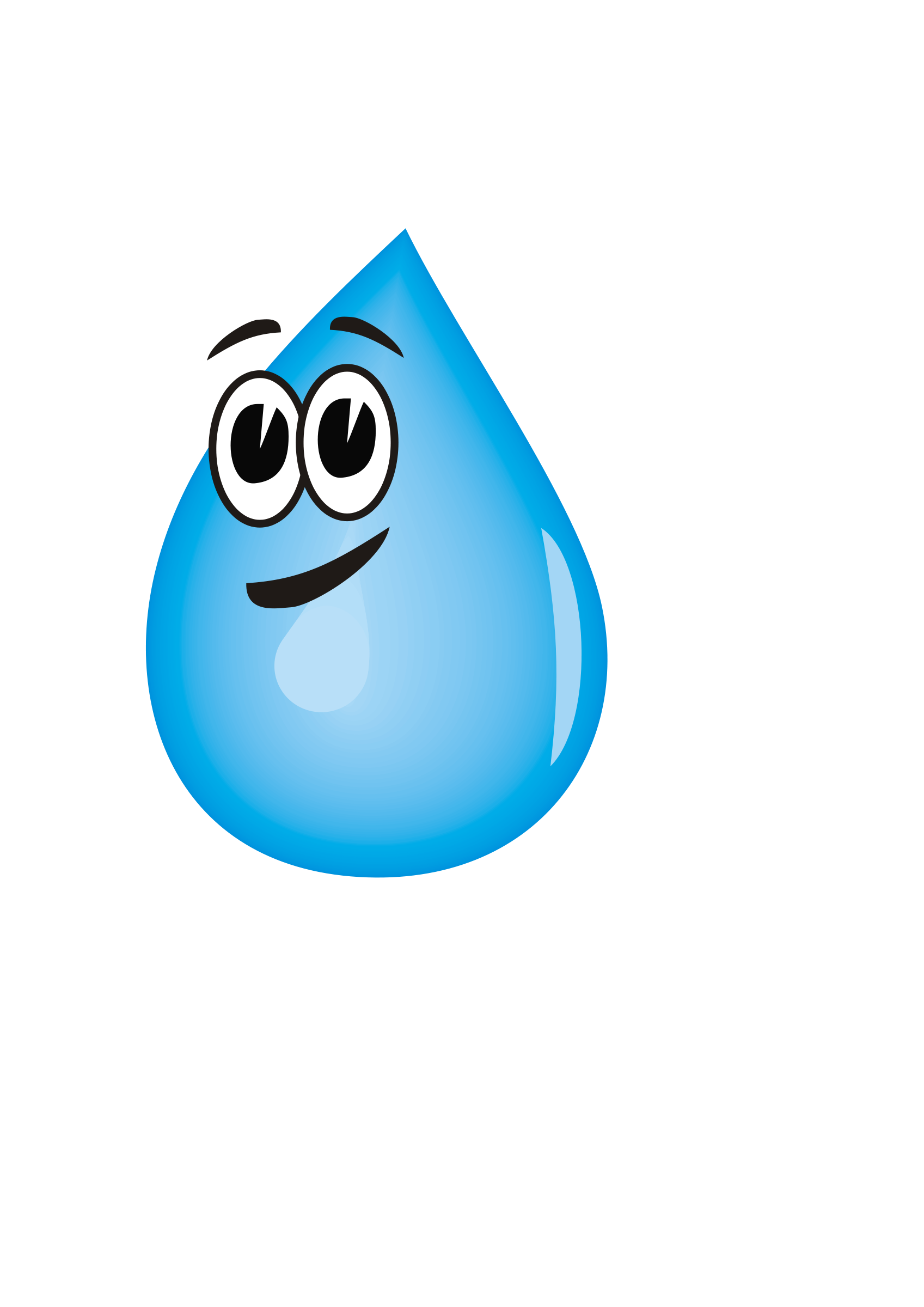 Raindrop clipart cloudy with. Blue water animated