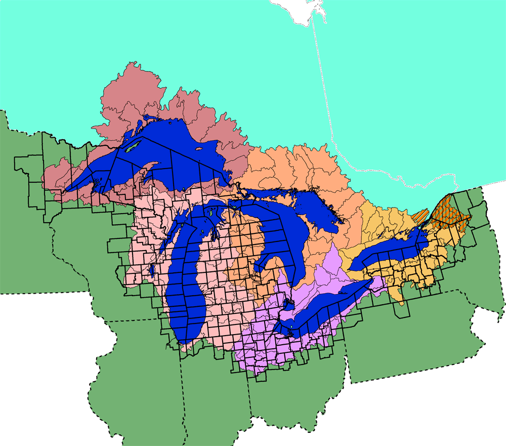 Us map with the. Lake clipart basin