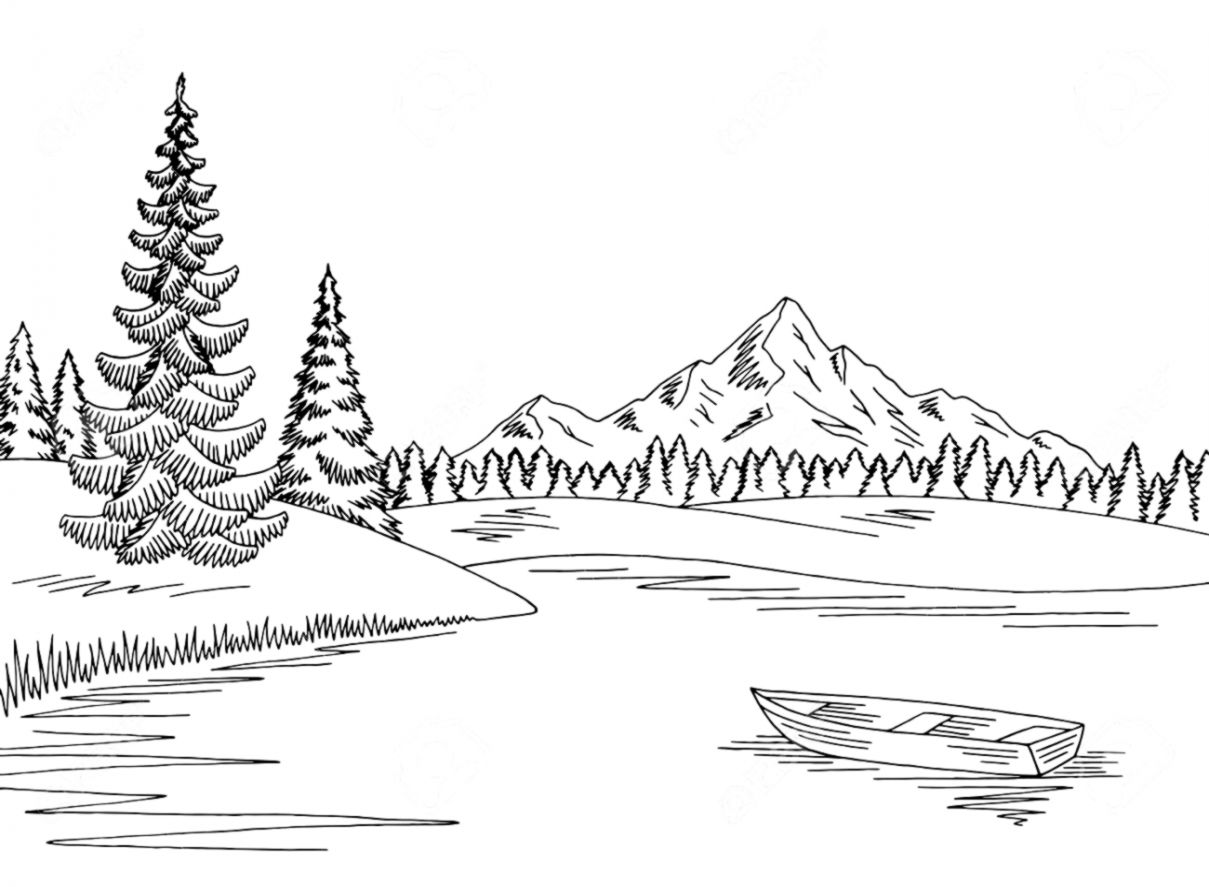 Wallpapers inspire . Lake clipart black and white