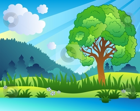 clip art clipartlook. Lake clipart country landscape