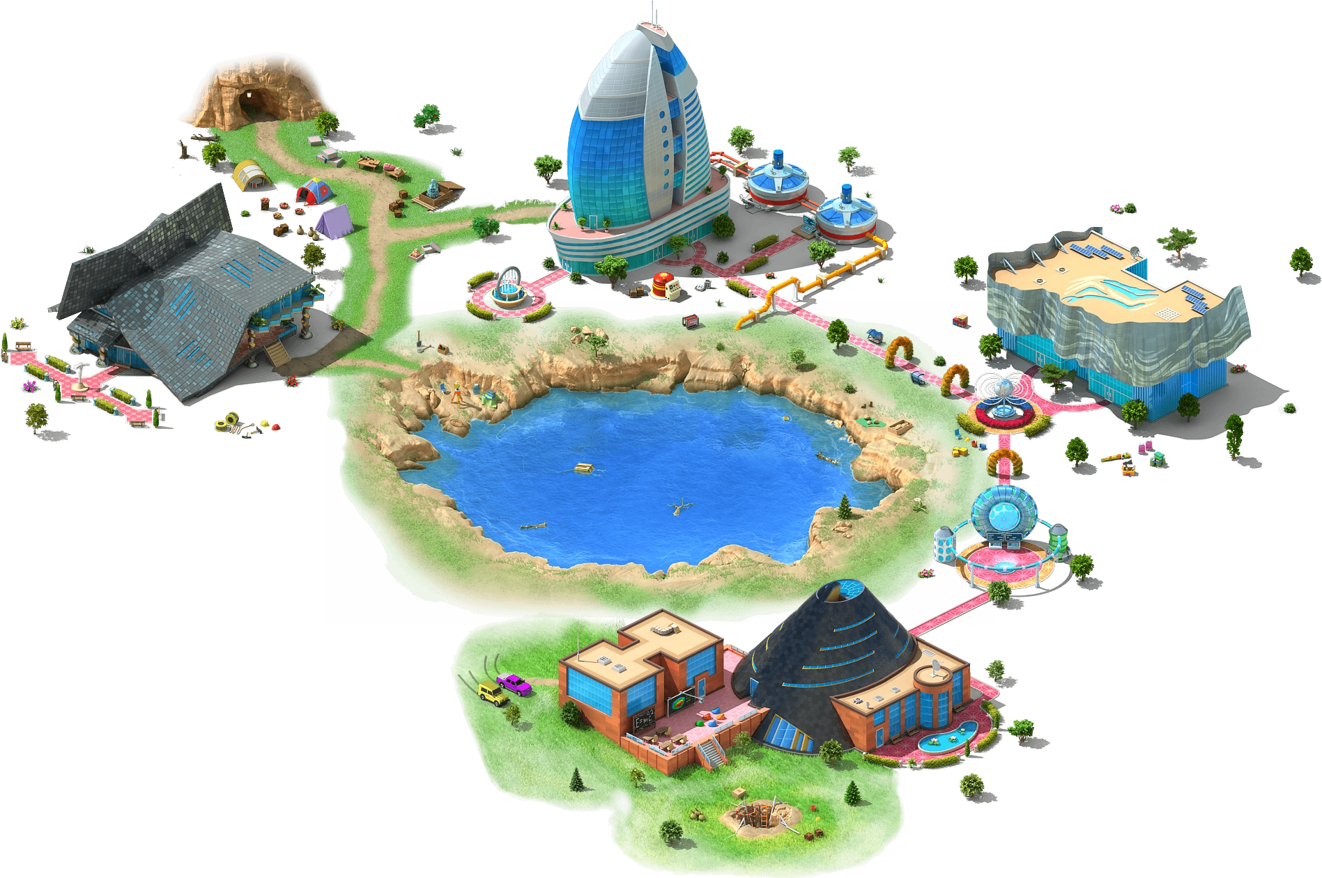 Lake clipart crater. Mysterious megapolis wiki fandom