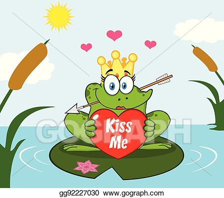 Clip art vector illustration. Lake clipart cute