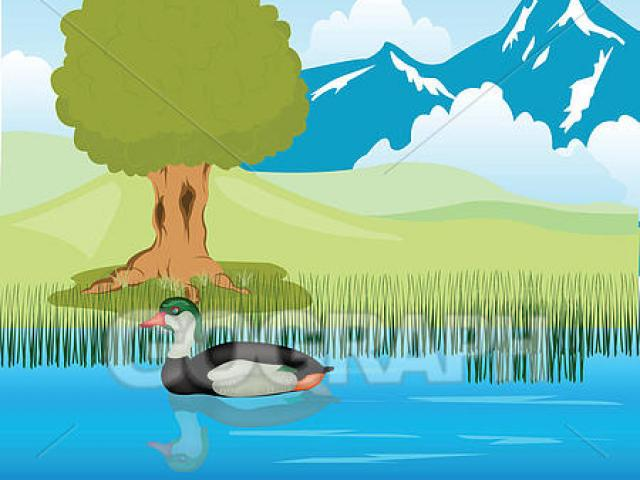 Lake clipart empty pond. Free download clip art