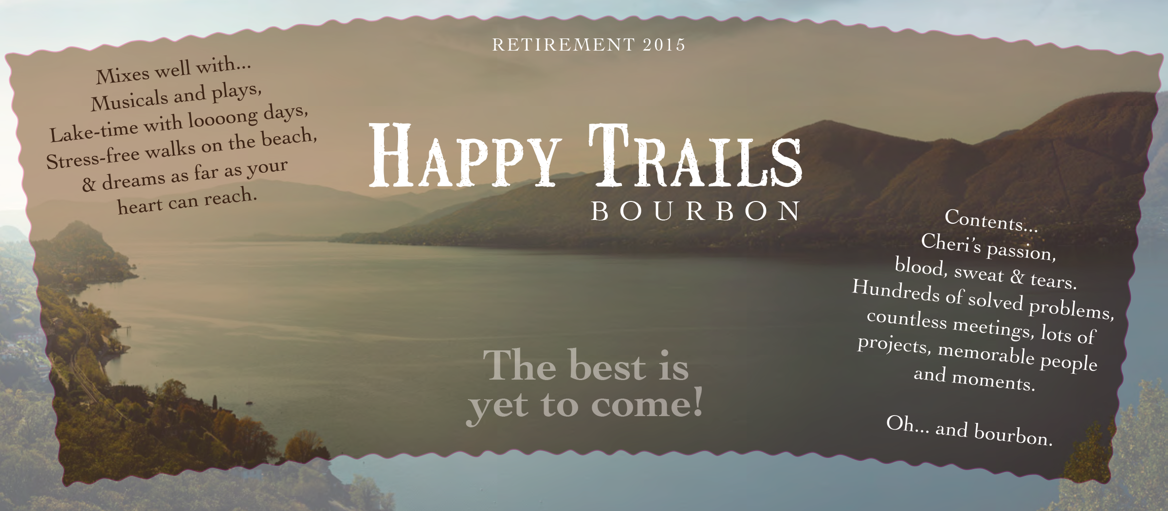 Lake clipart happy trail. Graphic design trails retirement