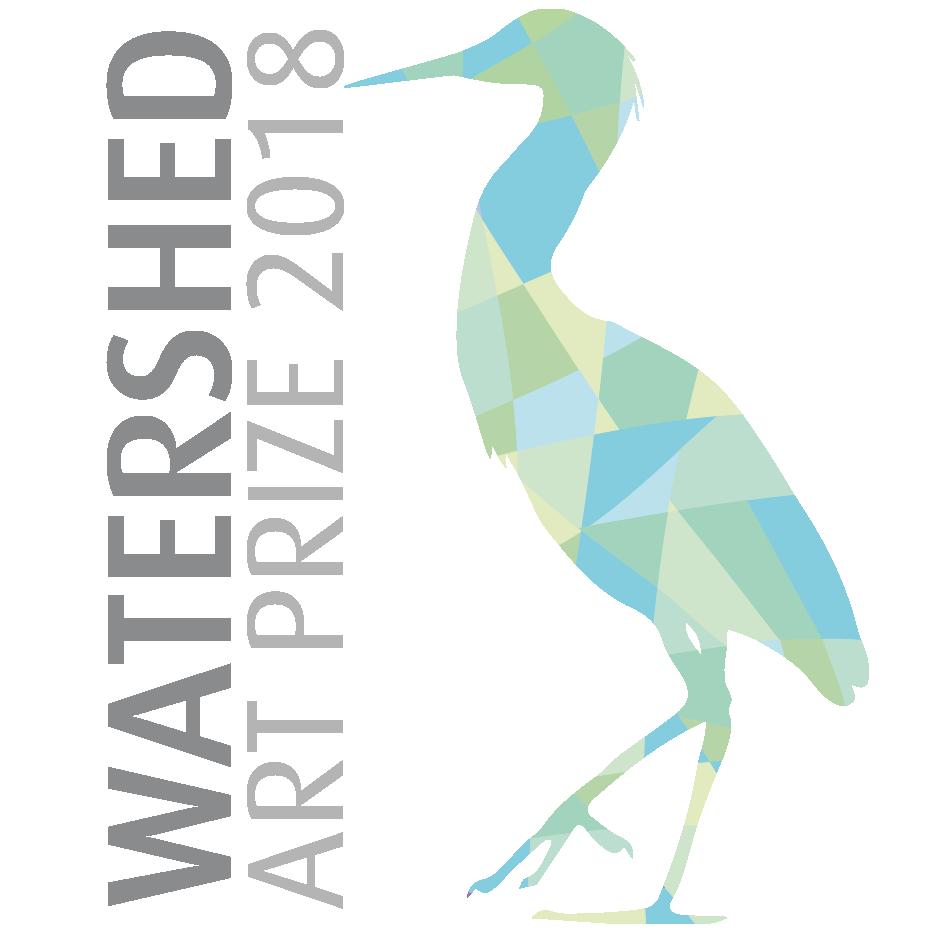 watershed art prize. Lake clipart heron