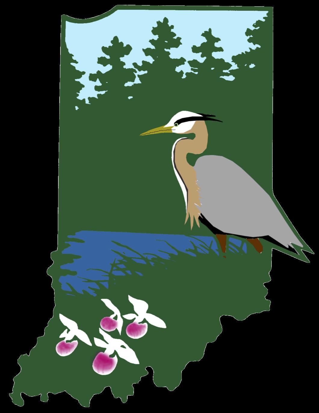 Lake clipart heron. Ropchan memorial acres land
