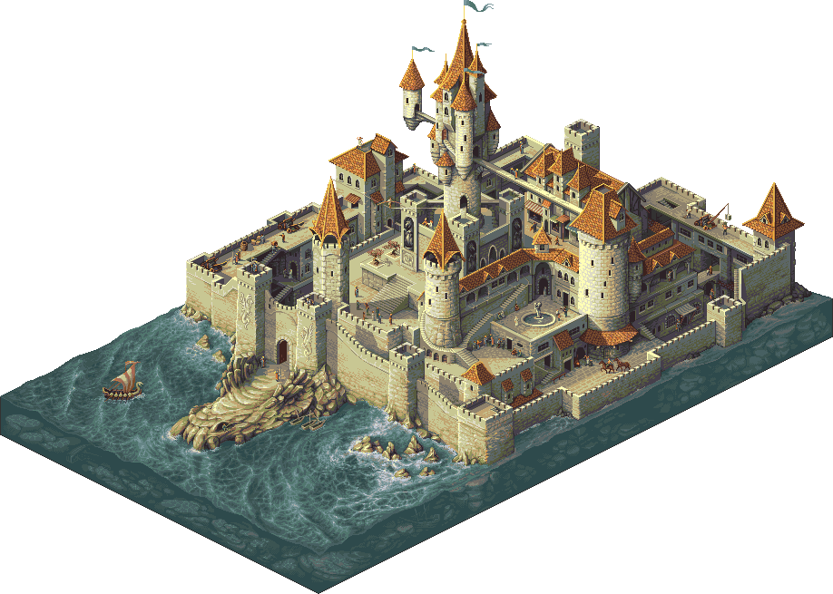 Iso castle pinterest castles. Palace clipart minecraft