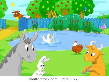 Lake clipart lake animal. Farm animals at the