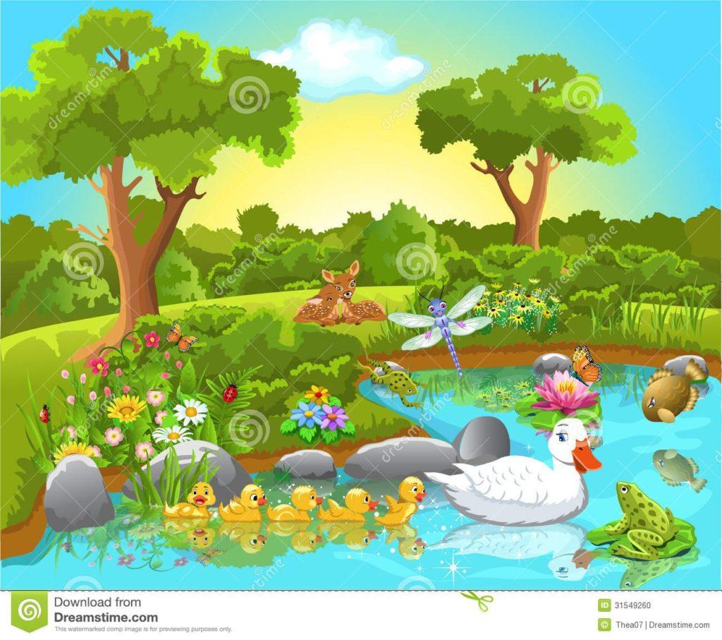 Animals and clip art. Lake clipart lake animal