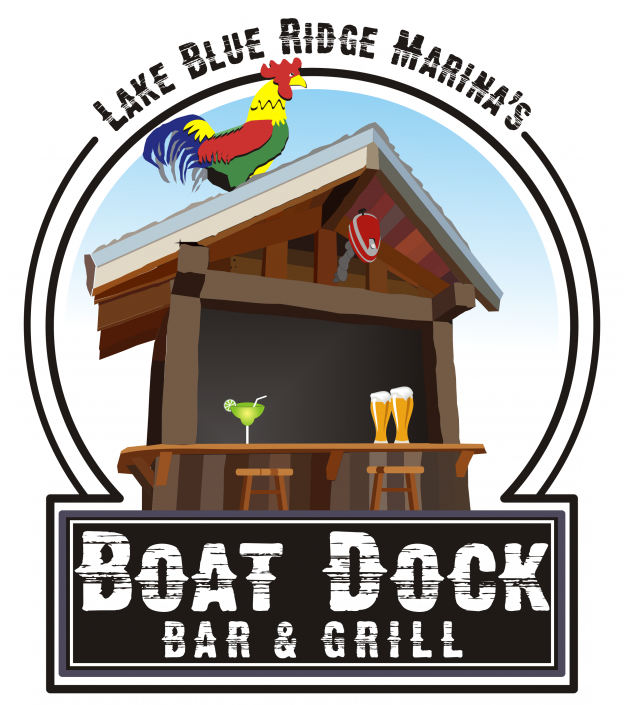 Blue ridge marina dock. Lake clipart lake boat