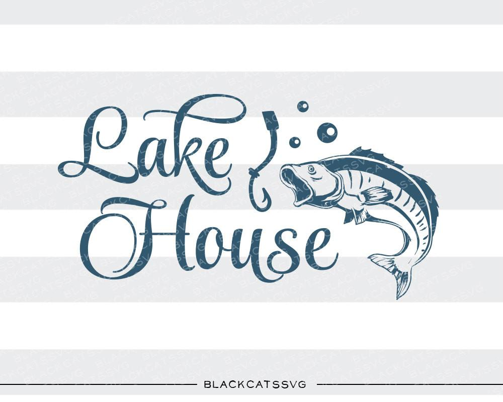 Svg file cutting in. Lake clipart lake house