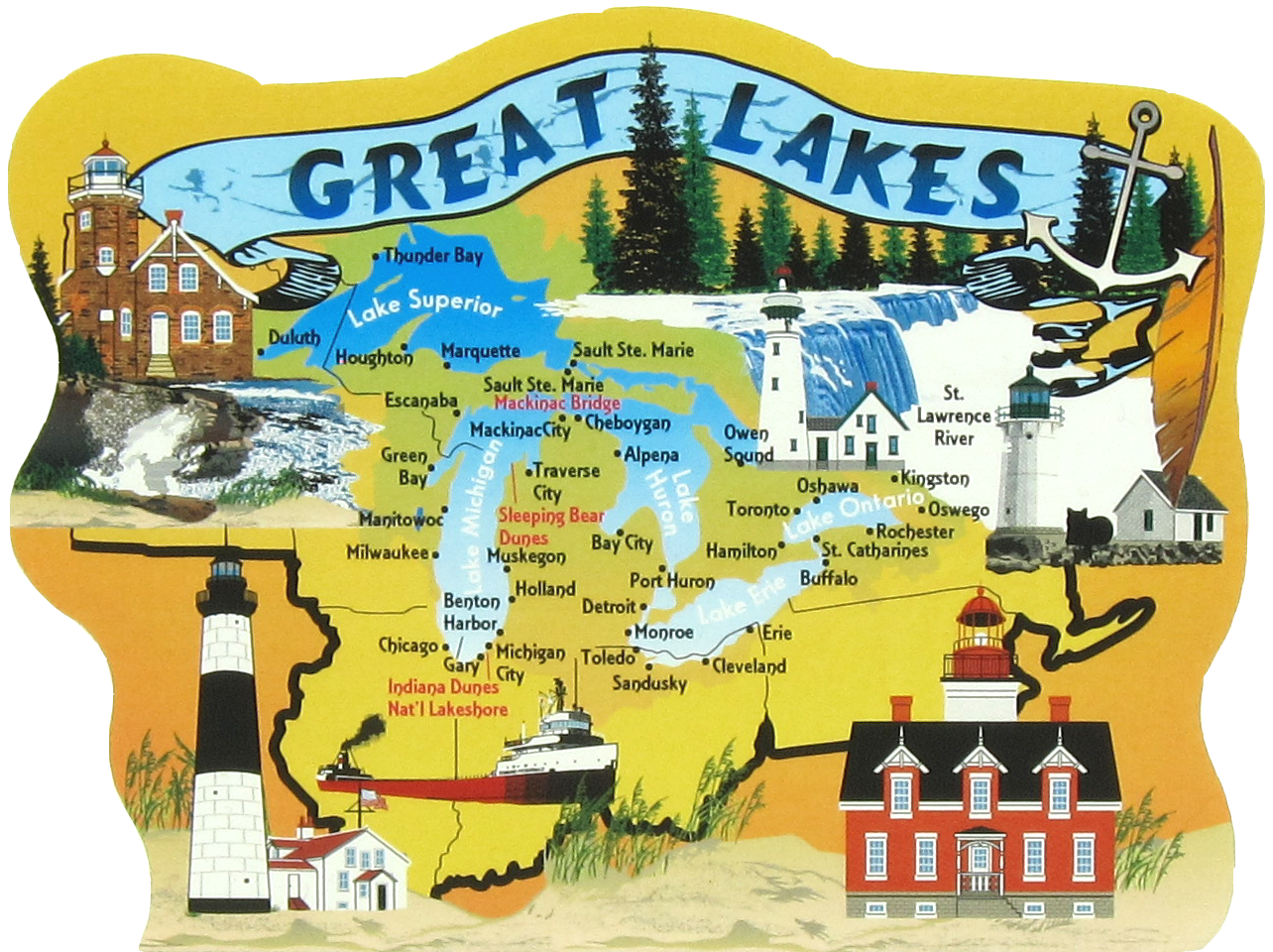 Great lakes map the. Lake clipart lake superior