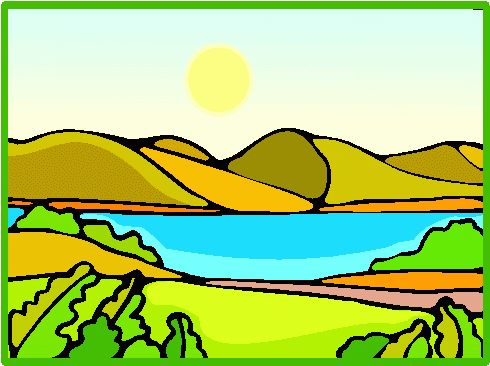 Lake clipart landform. Free download best on