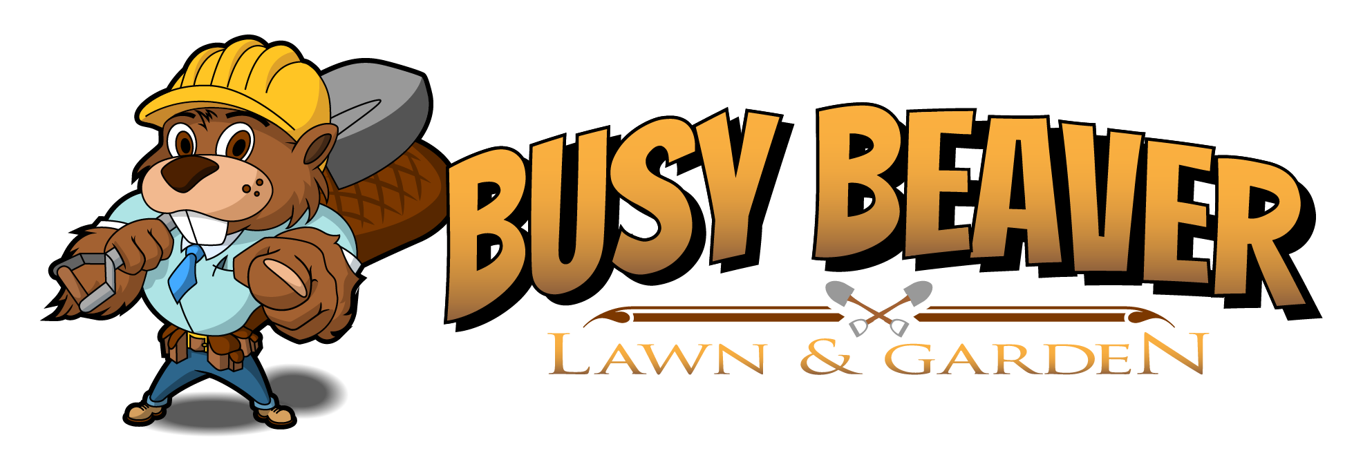 Busy beaver lawn and. Lake clipart landscape design