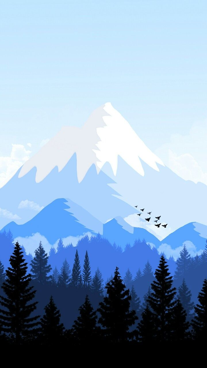 Lake clipart mountain wallpaper. Alps animated forest iphone