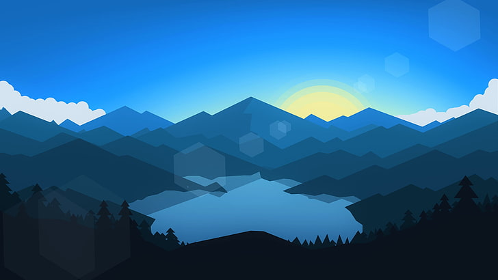 Lake clipart mountain wallpaper. Hd silhouette of and
