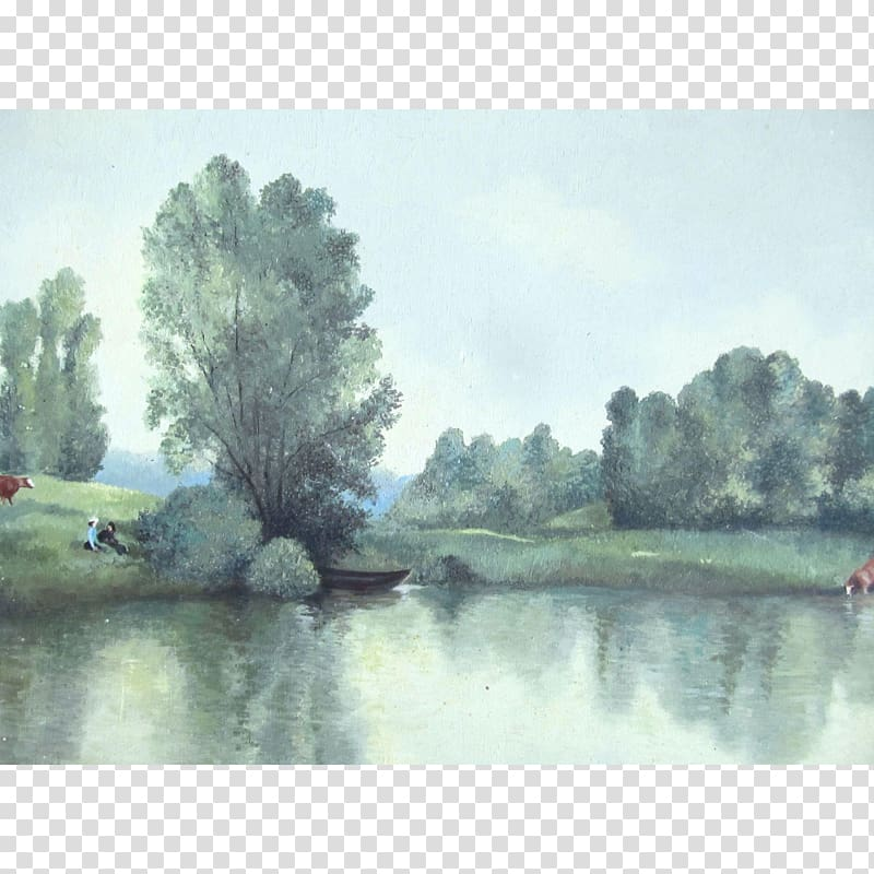 Lake clipart river bank. Watercolor painting bayou pond