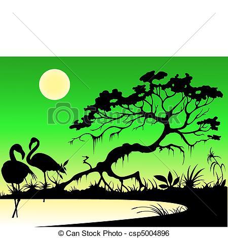 Moon clip art bay. Lake clipart silhouette