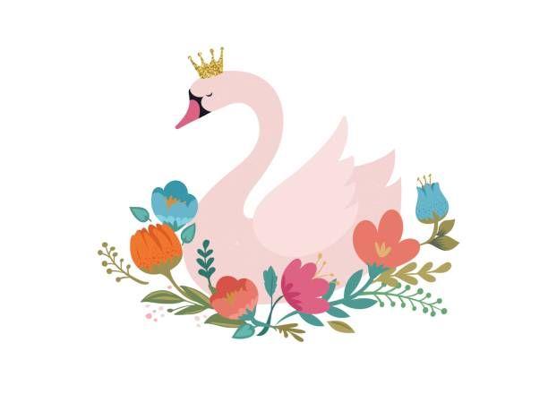 Royalty free clip art. Lake clipart swan