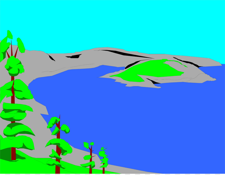 Green grass background png. Lake clipart volcano crater