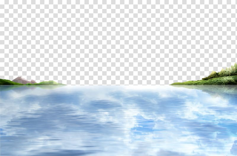 White clouds sky of. Lake clipart water reflection