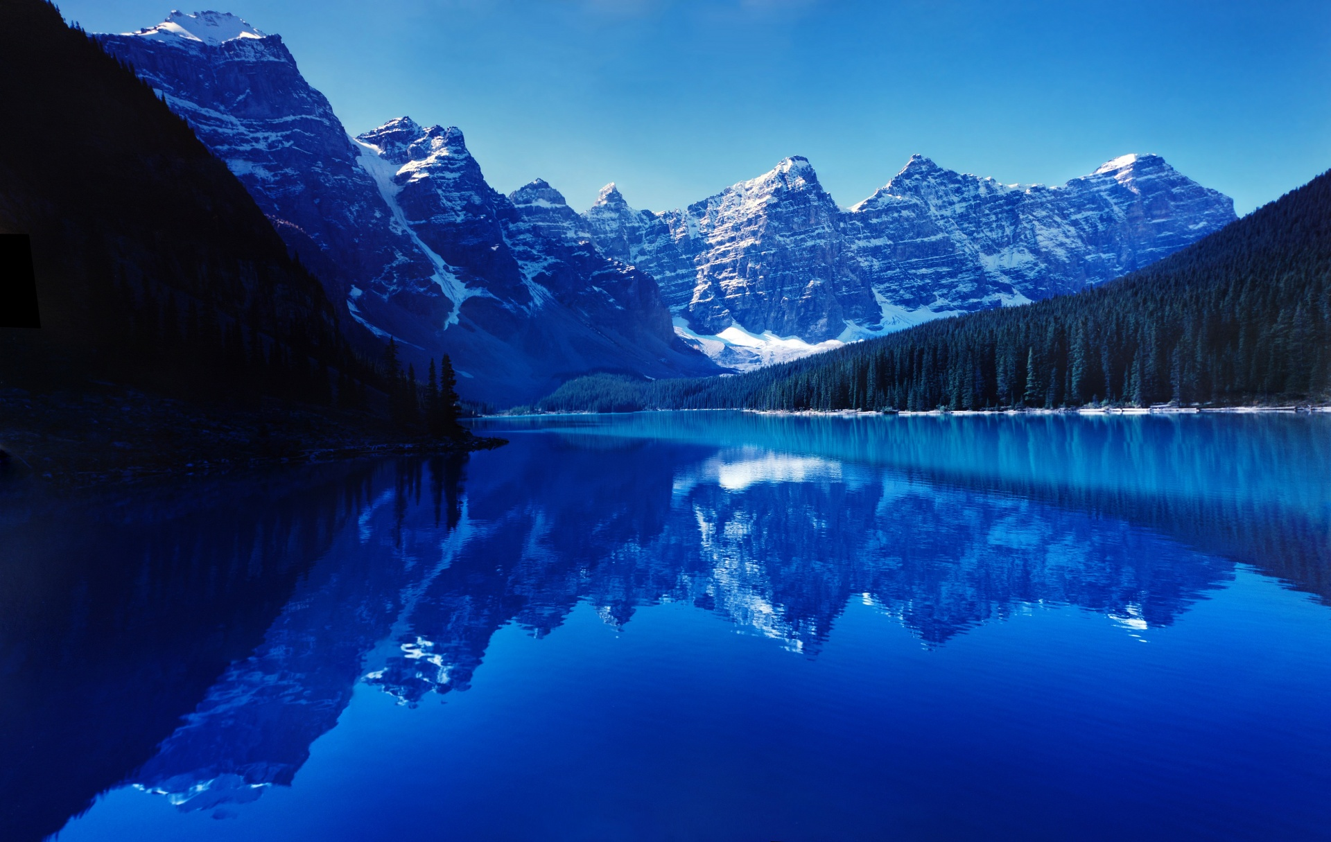 Moraine still smooth free. Lake clipart water reflection
