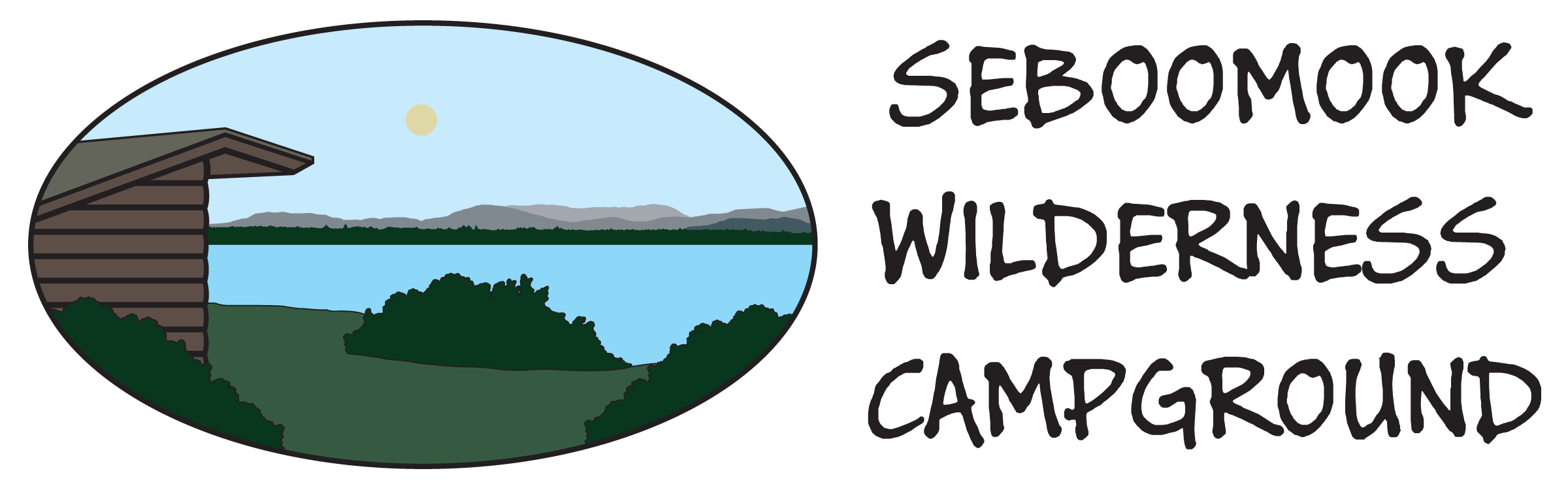 Lake clipart wilderness. Seboomook campground pricing