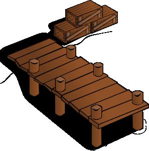 Docks clip art at. Lake clipart wooden dock