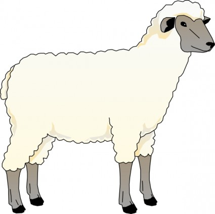 Sheep clipart. Lamb black and white