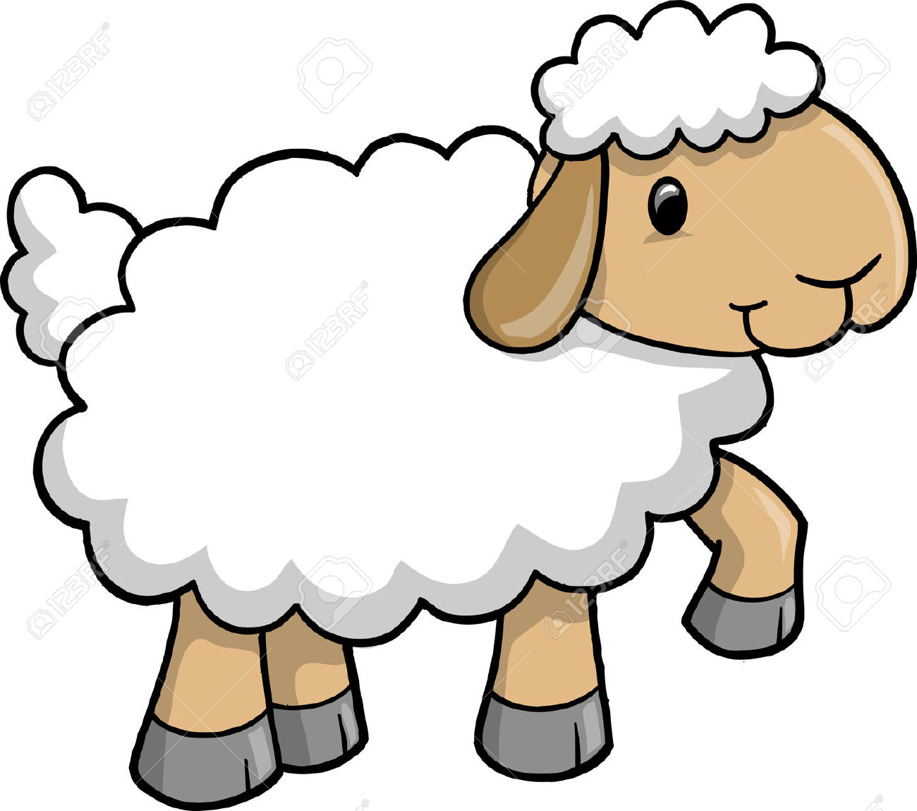 Lamb . Sheep clipart