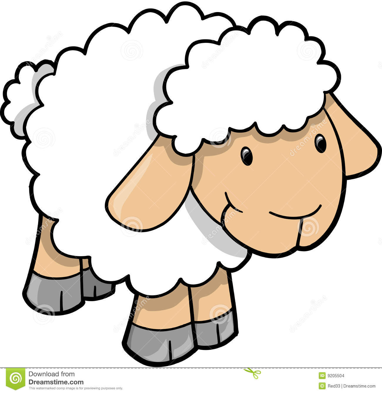 Free . Lamb clipart