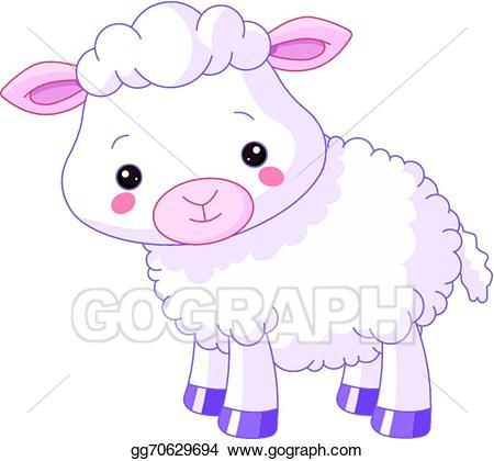 Vector stock farm animals. Lamb clipart barnyard animal