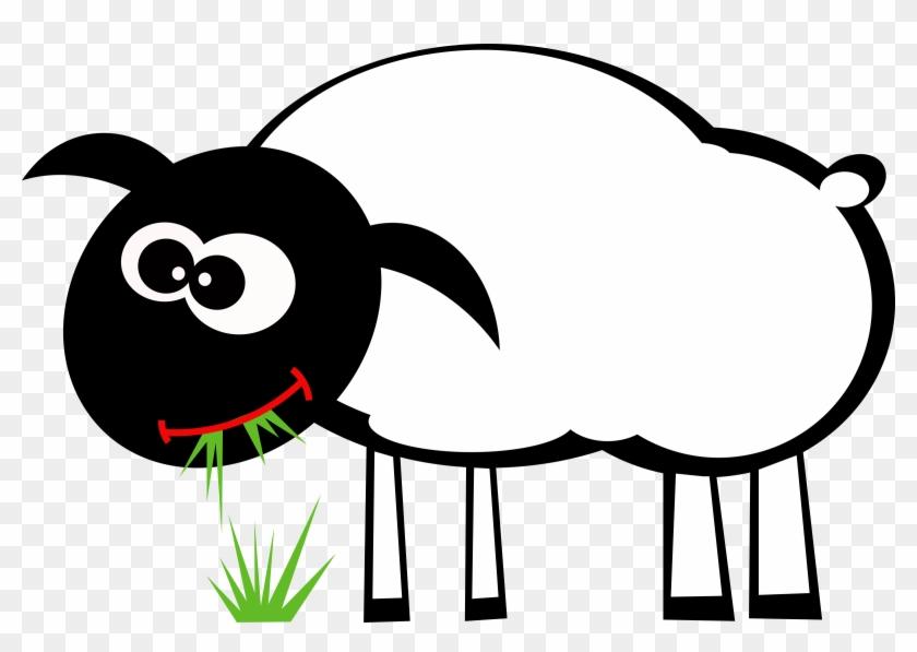 Eating grass cartoon hd. Lamb clipart big sheep