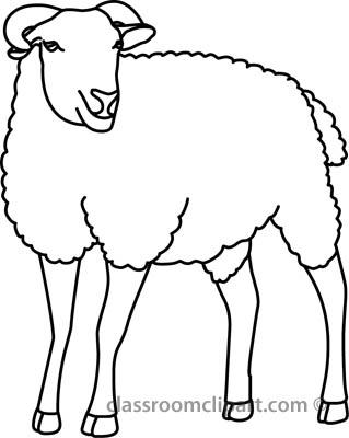 Lamb clipart black and white. Sheep