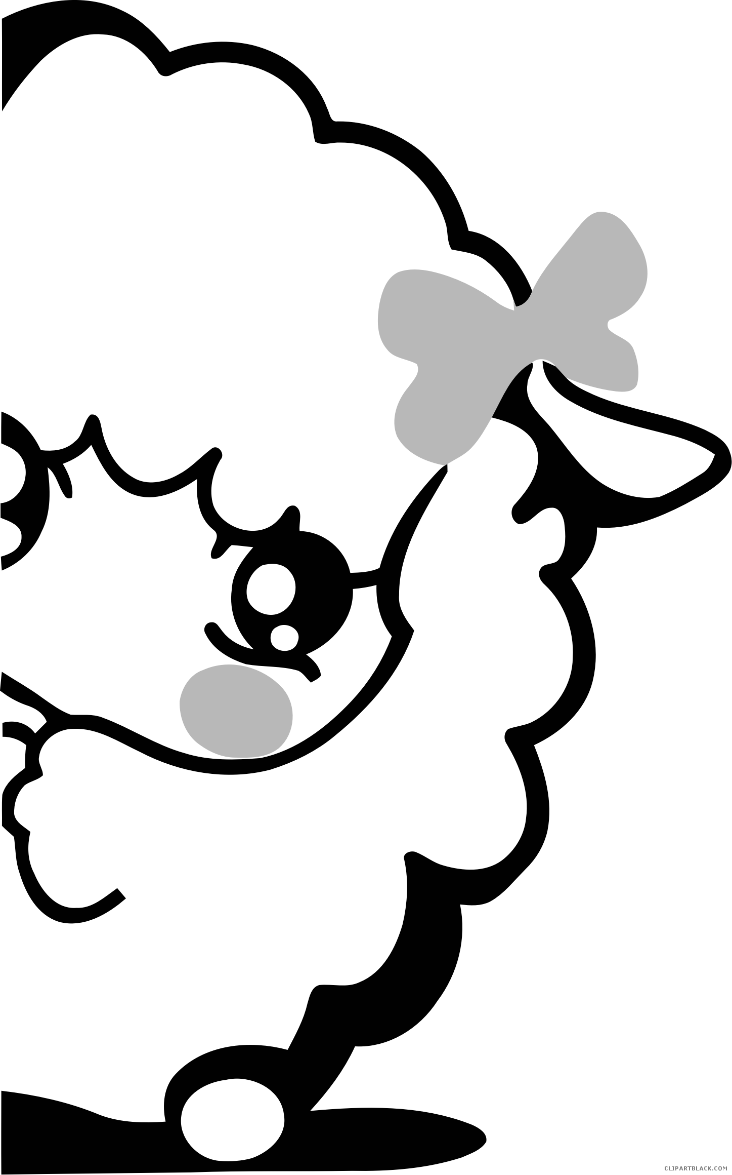 Clipartblack com animal free. Lamb clipart black and white