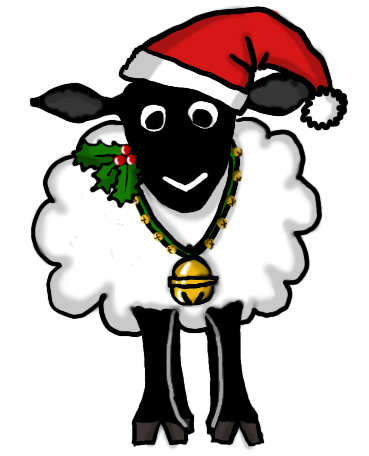 Sheep cliparts zone . Lamb clipart christmas