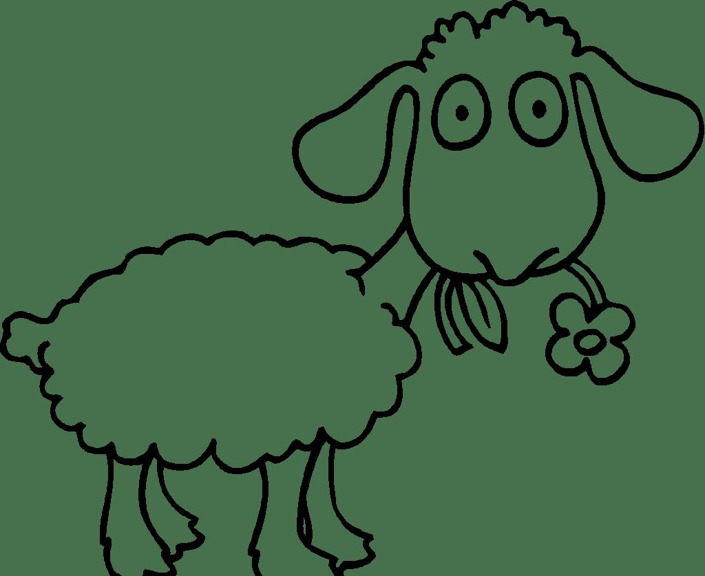 Lamb clipart colored sheep. Coloring page eskayalitim saveenlarge