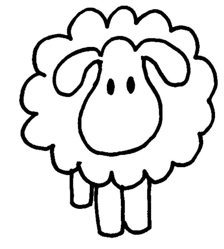 Lamb clipart colouring page. Sheep and coloring pages