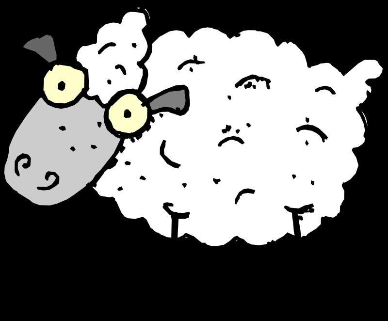 Coloring pages mammals sheeps. Lamb clipart female sheep