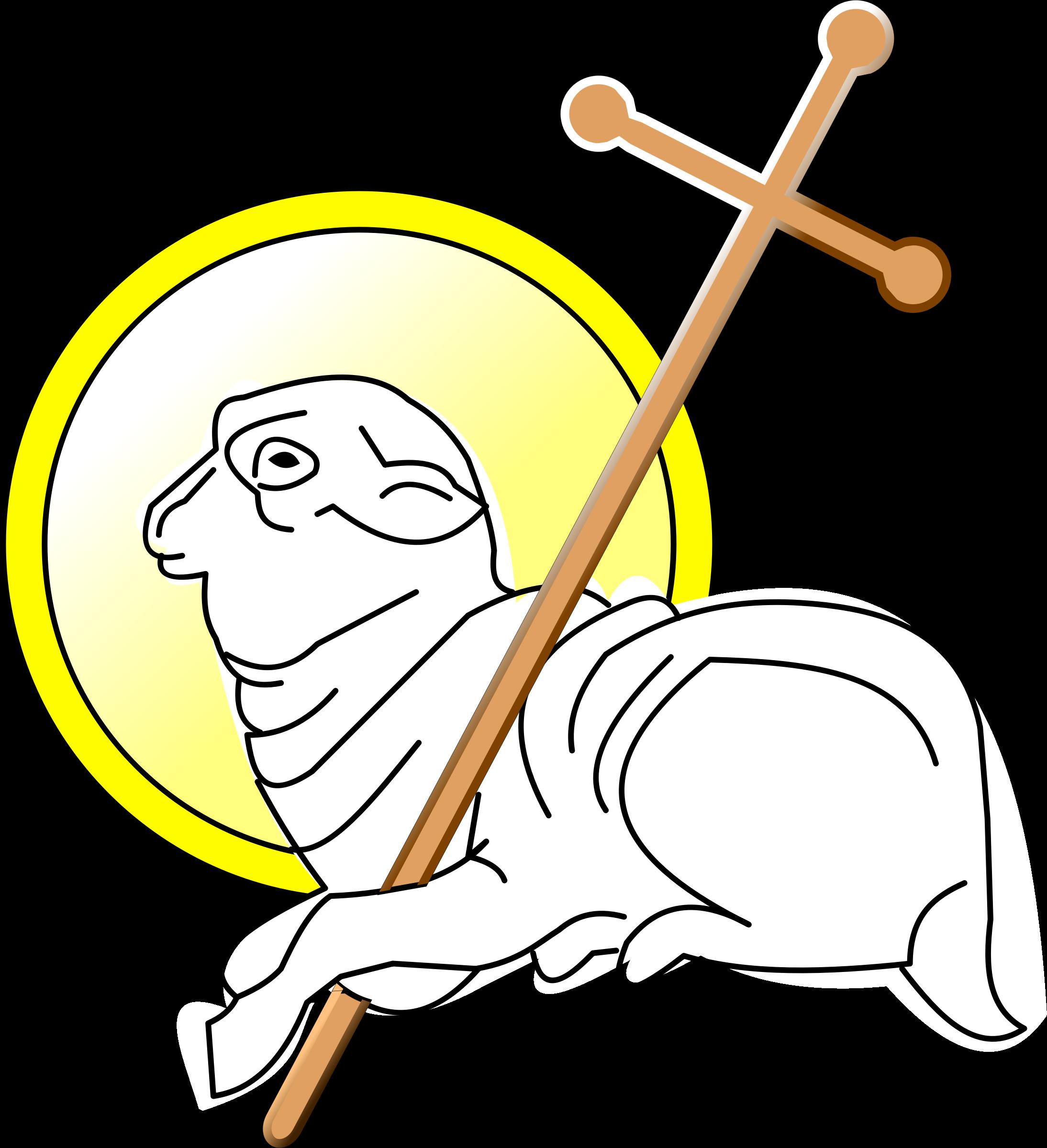 Agnus dei big image. Lamb clipart god